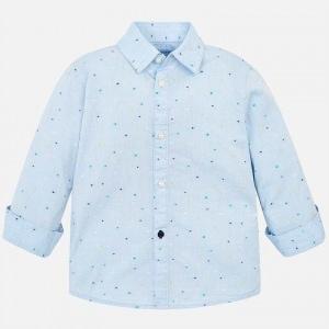 camisa manga larga celeste la lazada