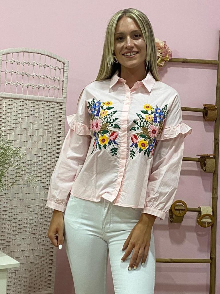 Camisa Flor Mujer Lalazada